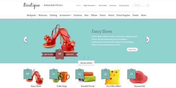 Plantillas WordPress para una tienda: Boutique