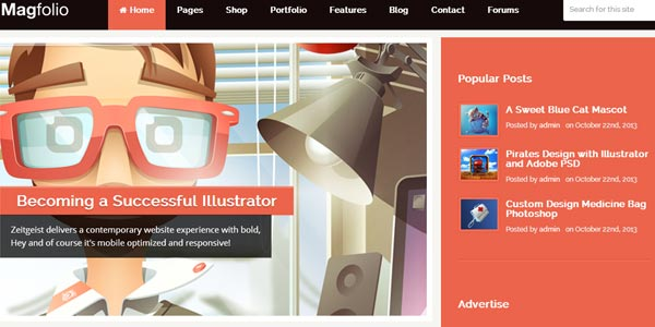 Plantillas WordPress para una tienda en Internet: MagFolio