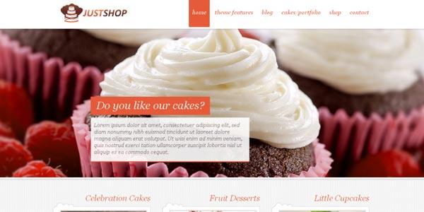 Plantillas WordPress para una tienda virtual: Justshop