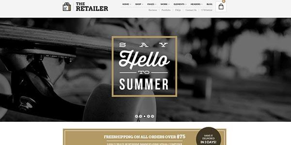 Plantillas WordPress para una tienda virtual: The Retailer