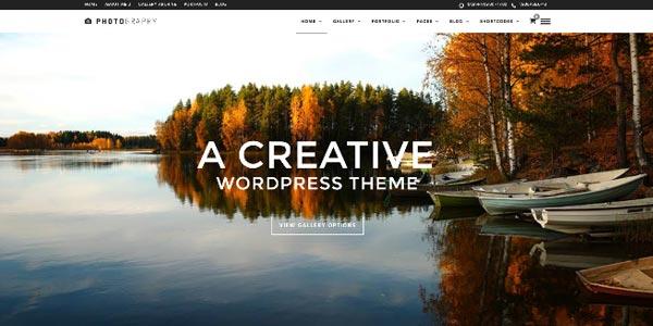 Plantillas WordPress responsive: Photography