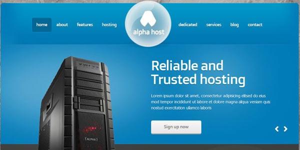 Temas WordPress hosting: Alpha Host