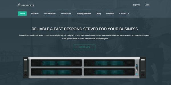Temas WordPress para hosting: Servereza