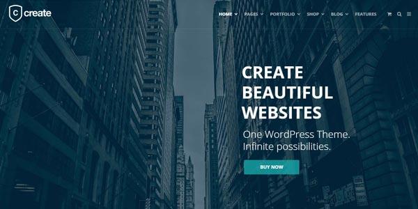 Temas WordPress para una tienda virtual: Create