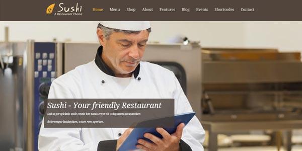 Temas WordPress para una tienda virtual: Sushi