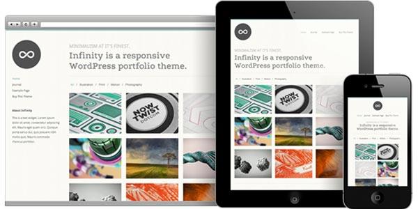 Temas WordPress responsive: Infinity