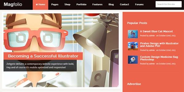Temas WordPress responsive: MagFolio