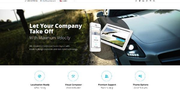Temas WordPress responsive: Velocity