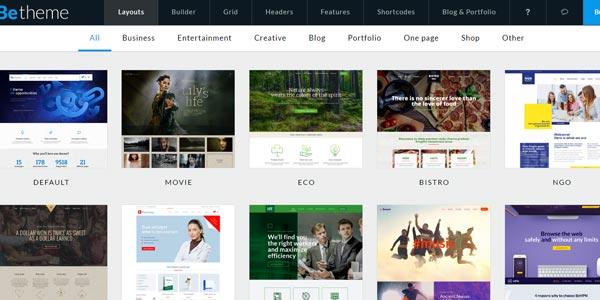 Temas responsive WordPress: BeTheme