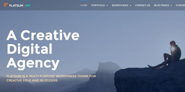 Themes wordpress html5 flatsum