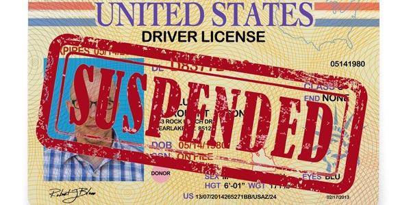 Licencia suspendida estados unidos usa eeuu