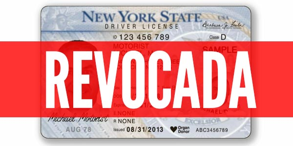 Licencia de conducir revocada