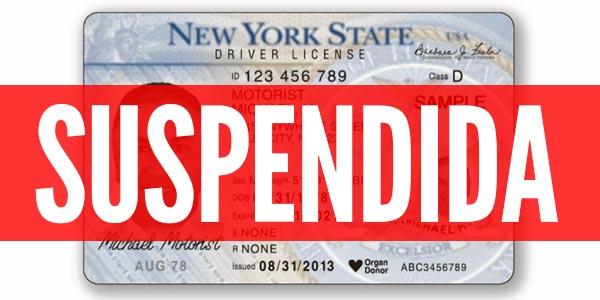 Licencia de conducir suspendida
