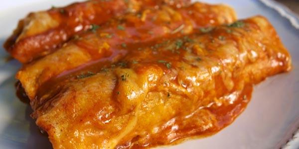 Mejor almuerzo para diabeticos enchiladas de carne de res y frijoles