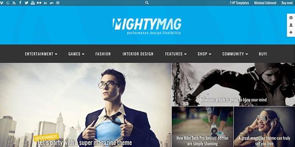 Mejores temas wordpress para seo mightymag