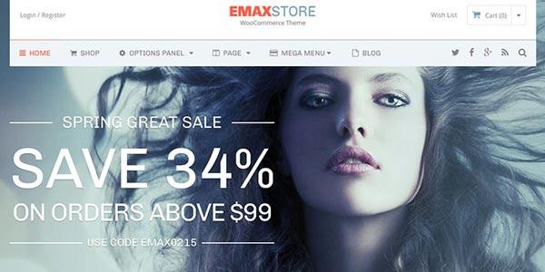 Mejores temas wordpress para seo de tiendas online emaxstore