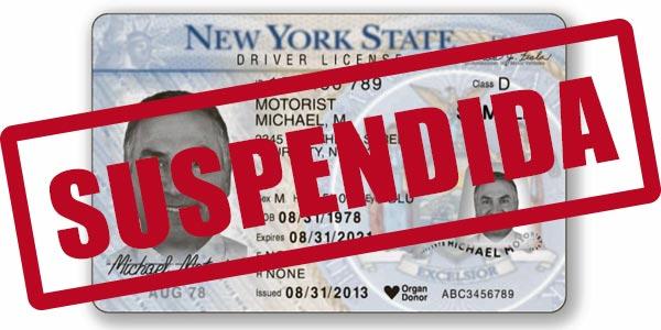 Notificacion del dmv sobre suspension de la licencia