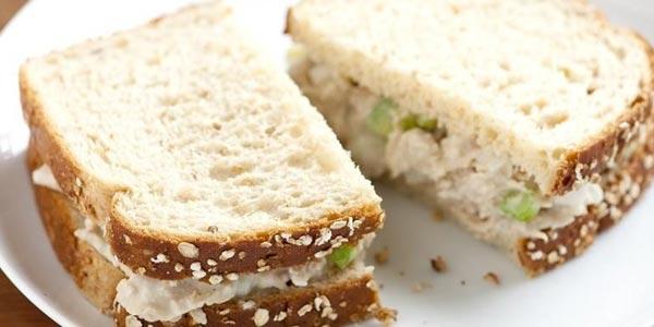 Peor cena para diabeticos sandwich de atun