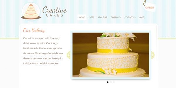 Plantillas wordpress creativas creatives cakes
