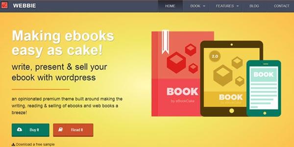 Plantillas wordpress para ventas de libros webbie