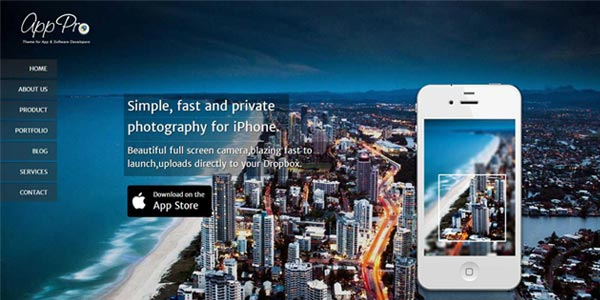 Temas wordpress para paginas de aterrizaje de aplicaciones app pro
