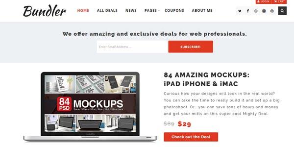 Temas wordpress para ventas de ebooks bundler