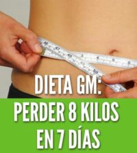 Dieta gm perder 8 kilos en 7 dias general motors