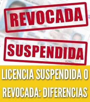 Diferencias licencia suspendida y una licencia revocada