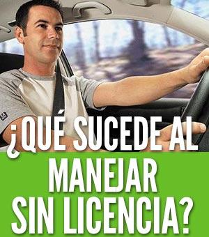 Manejar sin licencia