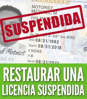Restaurar una licencia suspendida