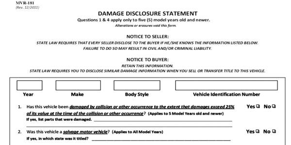 Vender un auto en craigslist declaracion jurada de danos