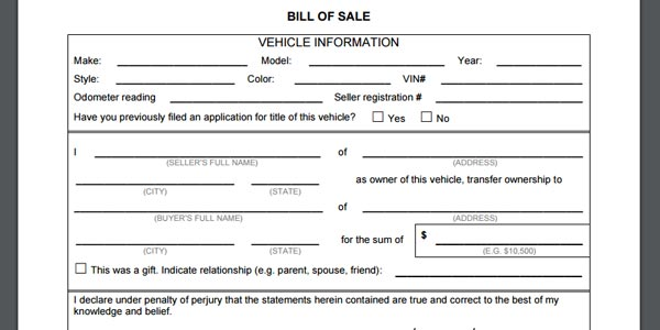 vender un auto en craigslist factura de venta de un carro