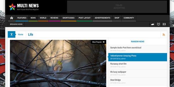 Temas WordPress de 3 columnas realmente rápidos y atractivos