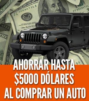 ahorrar hasta $5000 dólares al comprar un carro