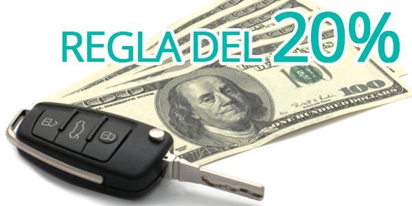 Cuanto down payment debo dar al comprar un carro 20%