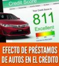 Efecto de préstamo de autos en el credito reporte puntaje