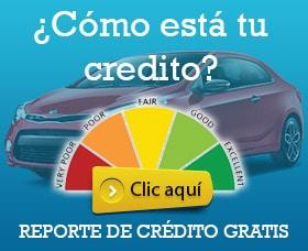 Down payment al comprar un carro reporte de crédito