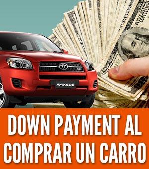 Down payment al comprar un carro