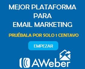 Mejor compañía de email marketing: Aweber