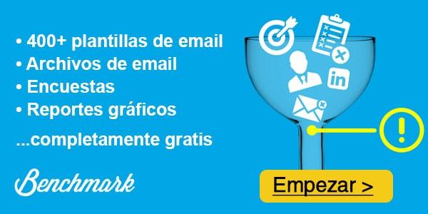 Mejores compañías de email marketing: Benchmark Email