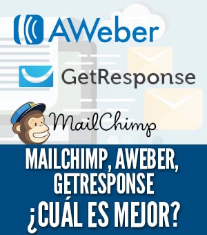 Aweber getresponse mailchimp cual es mejor