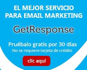 Getresponse mensaje de bienvenida email marketin
