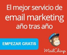 Mailchimp campaña de email marketing exitosa