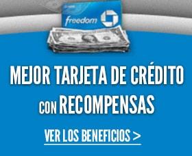 Mejores tarjetas de credito con recompensas chase freedom