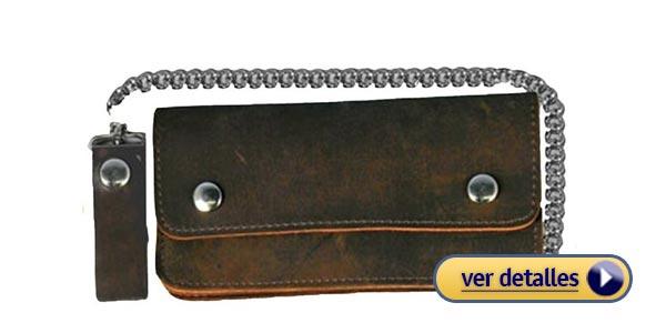 7e3fb4a8e Billeteras con cadena para hombre billetera con cadena de metal de wild