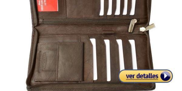 787c0ce41a7 Billeteras con cierre para hombre billetera con espacio para pasaporte  marshal