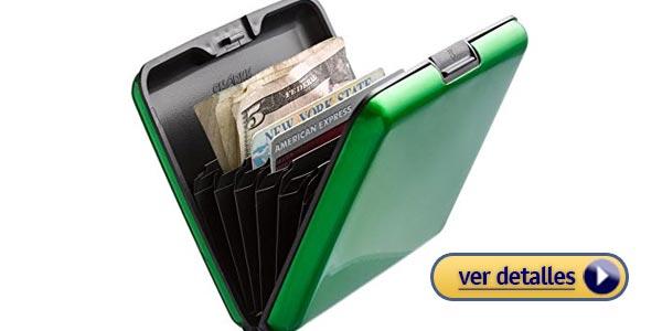 c3fc128db Billeteras de metal para hombre: Billetera de aluminio con protección RFID  de SHARKK