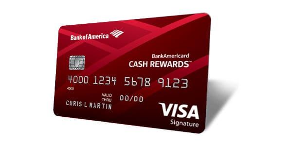 Mejores tarjetas de crédito cashback: BankAmericard Cash Rewards Credit Card