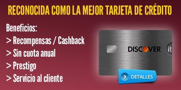 Mejores tarjetas de crédito cashback: Discover IT Cashback