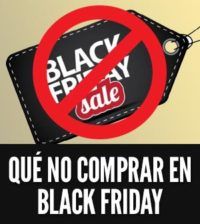 Que no comprar en black friday